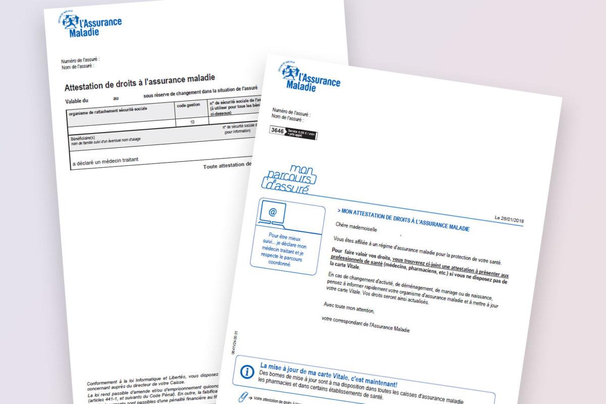 obtenir une attestation carte vitale Comment obtenir une Attestation de droits à l'Assurance Maladie ?
